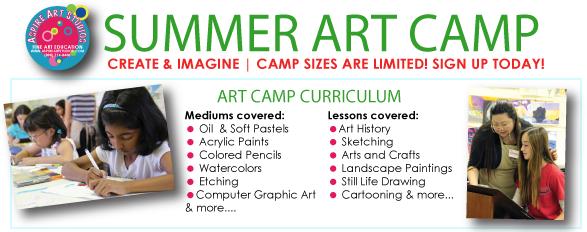 Summer Art Camp 2014 Now Open for Enrollment!   Aspire Art